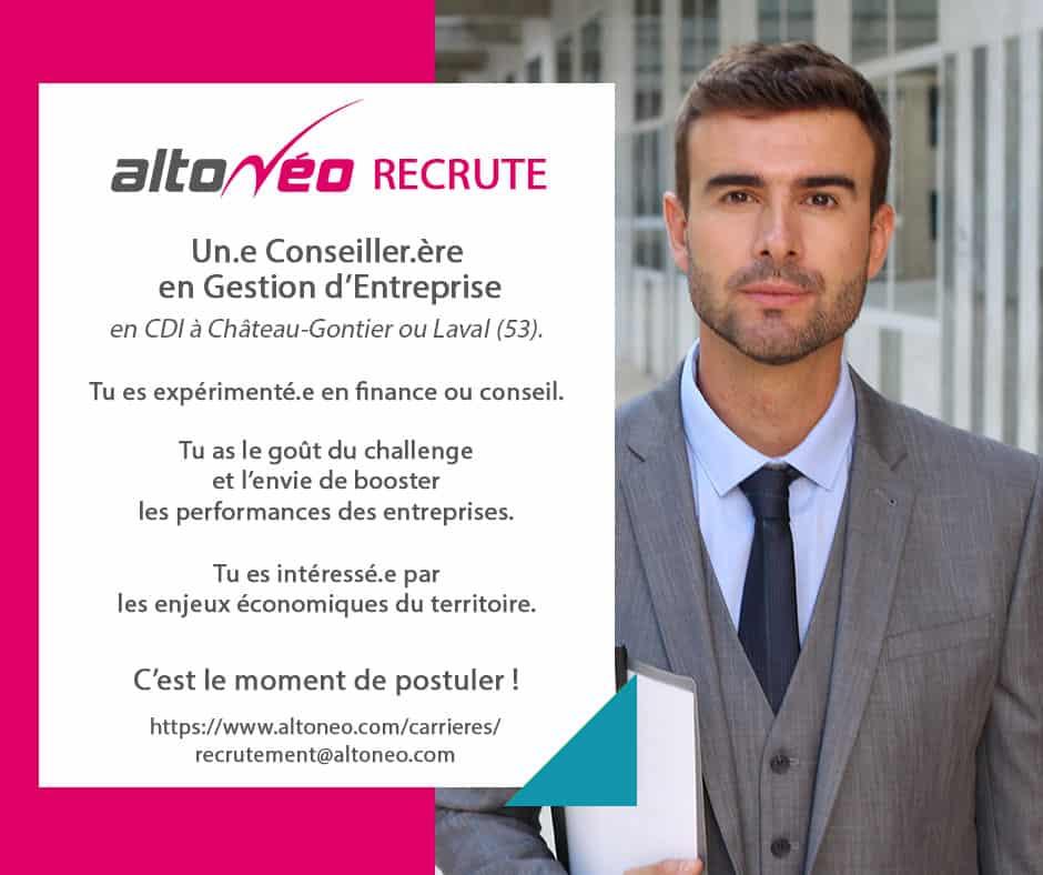 Offre d'emploi, Conseiller·ère en gestion d'entreprise
